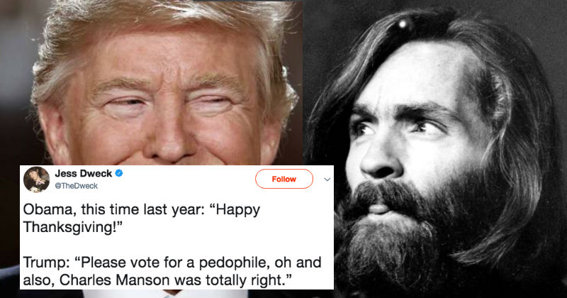Twitter's Convinced Trump Endorsed Charles Manson With Bizarre Retweet